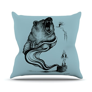 KESS InHouse Hot Tub Hunter II Throw Pillow; 18'' H x 18'' W x 4.1'' D