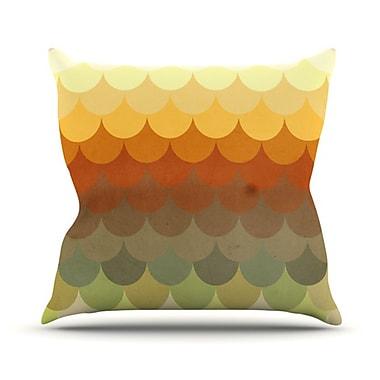 KESS InHouse Half Circles Waves Throw Pillow; 26'' H x 26'' W