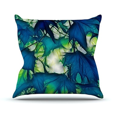 KESS InHouse Leaves Throw Pillow; 18'' H x 18'' W