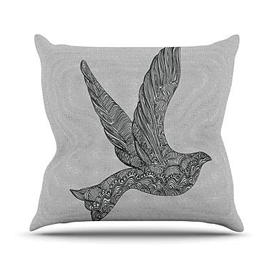 KESS InHouse Dove Throw Pillow; 18'' H x 18'' W
