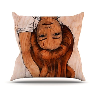 KESS InHouse Girl Throw Pillow; 18'' H x 18'' W