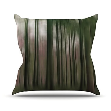 KESS InHouse Forest Blur Throw Pillow; 20'' H x 20'' W