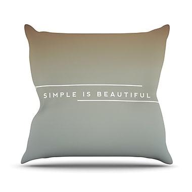 KESS InHouse Simple Beautiful Throw Pillow; 20'' H x 20'' W