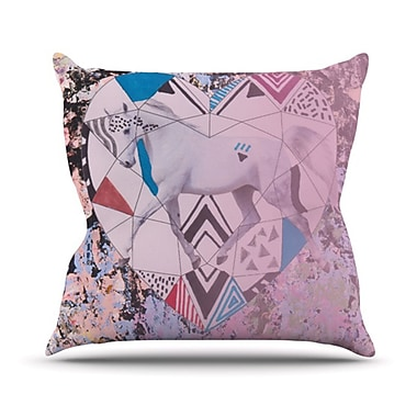 KESS InHouse Unicorn Throw Pillow; 18'' H x 18'' W
