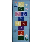 Fun Rugs Fun Time Primary Hopscotch Area Rug; Runner 2'6'' x 6'6''