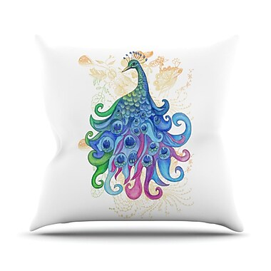 KESS InHouse Peace Throw Pillow; 26'' H x 26'' W