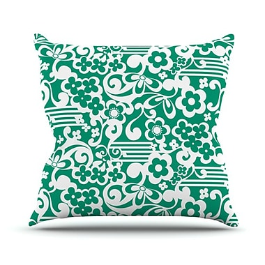 KESS InHouse Esmerald Serenity Throw Pillow; 18'' H x 18'' W