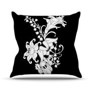 KESS InHouse My Garden Throw Pillow; 18'' H x 18'' W