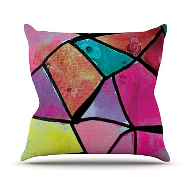 KESS InHouse Stain Glass 3 Throw Pillow; 18'' H x 18'' W