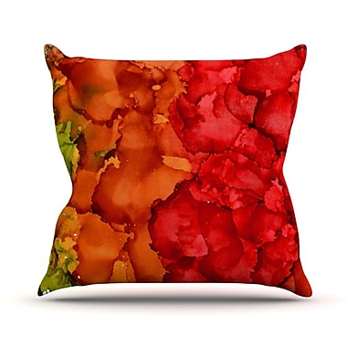 KESS InHouse Fall Splatter Throw Pillow; 26'' H x 26'' W