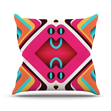 KESS InHouse Caviar Throw Pillow; 26'' H x 26'' W
