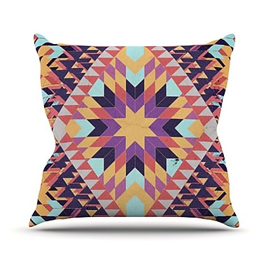 KESS InHouse Ticky Ticky Throw Pillow; 18'' H x 18'' W