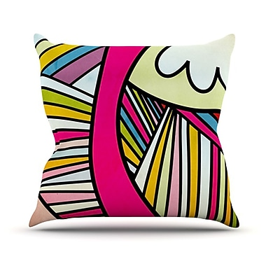 KESS InHouse Fake Colors Throw Pillow; 18'' H x 18'' W