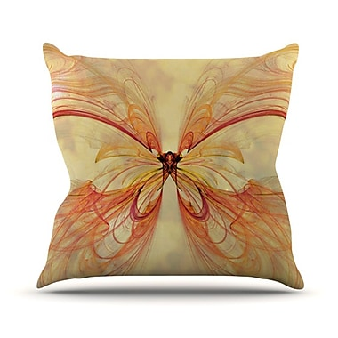 KESS InHouse Papillion Throw Pillow; 26'' H x 26'' W