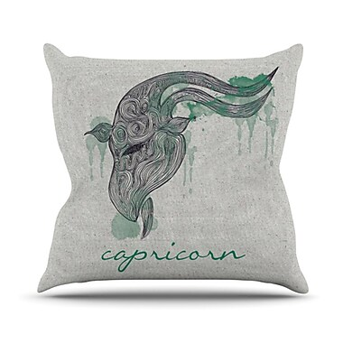 KESS InHouse Capricorn Throw Pillow; 20'' H x 20'' W