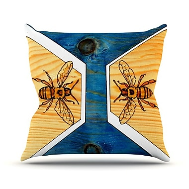 KESS InHouse Bees Throw Pillow; 20'' H x 20'' W
