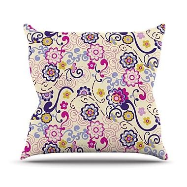 KESS InHouse Arabesque Throw Pillow; 20'' H x 20'' W