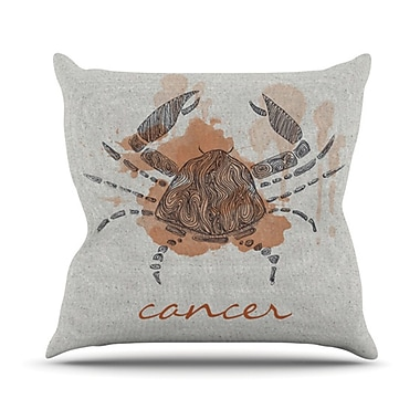 KESS InHouse Cancer Throw Pillow; 18'' H x 18'' W