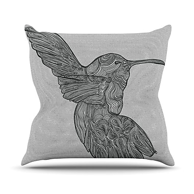 KESS InHouse Hummingbird Throw Pillow; 20'' H x 20'' W