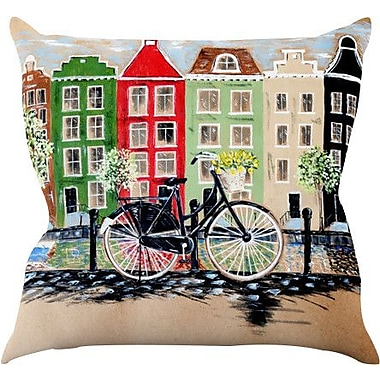 KESS InHouse Bicycle Throw Pillow; 18'' H x 18'' W