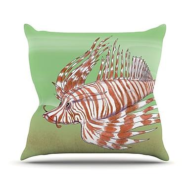 KESS InHouse Fish Manchu Throw Pillow; 20'' H x 20'' W