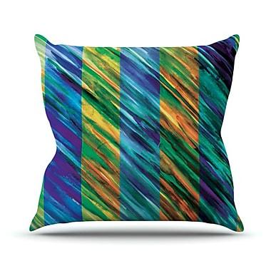 KESS InHouse Set Stripes II Throw Pillow; 18'' H x 18'' W