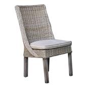 Panama Jack Sunroom Exuma Side Chair w/ Cushion; Canvas Natural