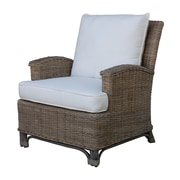 Panama Jack Sunroom Exuma Lounge Chair with Cushion; Antique Beige