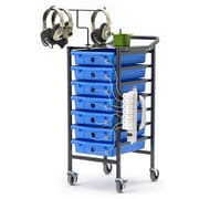 Copernicus Tech Tub 7-Compartment Tablet Storage and Charging Cart