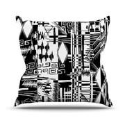 KESS InHouse Tropical Buzz Throw Pillow; 18'' H x 18'' W