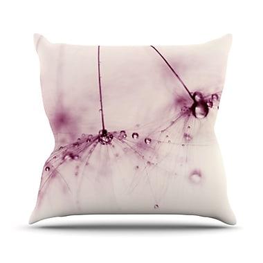 KESS InHouse Blush Throw Pillow; 26'' H x 26'' W