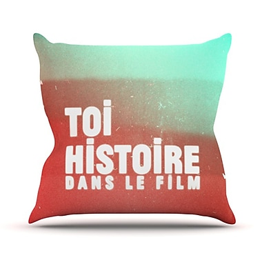 KESS InHouse Toi Histoire Throw Pillow; 18'' H x 18'' W