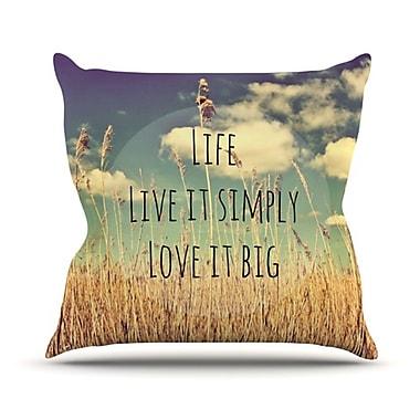 KESS InHouse Life Throw Pillow; 18'' H x 18'' W