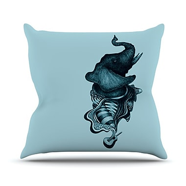 KESS InHouse Elephant Guitar II Throw Pillow; 20'' H x 20'' W x 4.5'' D