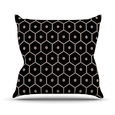 KESS InHouse Tiled Mono Throw Pillow; 18'' H x 18'' W