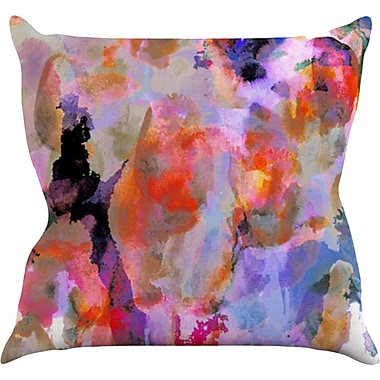 KESS InHouse Painterly Blush Throw Pillow; 20'' H x 20'' W