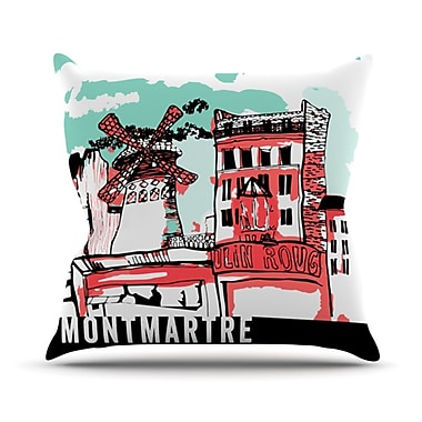 KESS InHouse Montmartre Throw Pillow; 18'' H x 18'' W
