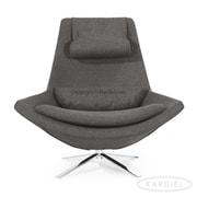 Kardiel Retropolitan Modern Wing Lounge Chair; Cadet Gray