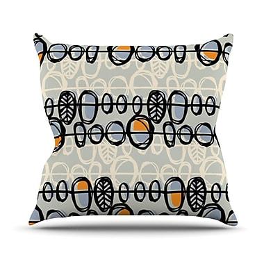 KESS InHouse Benin Throw Pillow; 18'' H x 18'' W