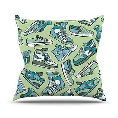 KESS InHouse Sneaker Lover I Throw Pillow; 18'' H x 18'' W