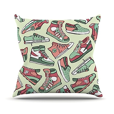 KESS InHouse Sneaker Lover II Throw Pillow; 18'' H x 18'' W