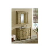 Chelsea Home Furniture Villa 42'' Single Vanity Set with Medicine Cabinet; Tan