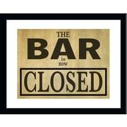 PENL Man Cave 'Bar is Closed' Framed Textual Art