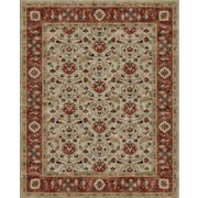 Due Process Stable Trading Co Meshed Hand-Tufted Sand/Clay Area Rug; 2'6'' x 6'