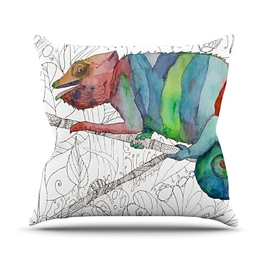 KESS InHouse Chameleon Fail Throw Pillow; 20'' H x 20'' W