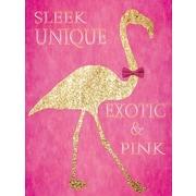 Graffitee Studios General Coastal 'Flamingo Sleek Unique' Graphic Art on Wrapped Canvas