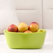 Home and Above 2 Piece Serving Bowl Set; Green/Yellow