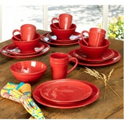 EuroCeramica Al Garve 16 Piece Dinnerware Set; Red