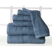 Affinity Linens Supersoft Plush 6 Piece Towel Set; Denim
