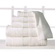 Affinity Linens Supersoft Plush 6 Piece Towel Set; Ivory